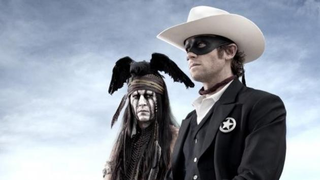 Johnny Depp and Armie Hammer in 'The Lone Ranger' -- Disney