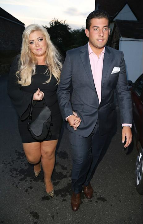 Celebrity splits 2012: This year hasn't been great for TOWIE's James Arg Argent's love life. Shortly after splitting from Lydia Bright, he got together with fellow TOWIE co-star Gemma Collins. However
