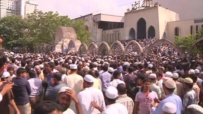 Thousands attend funeral for former Bangladesh Islamist leader