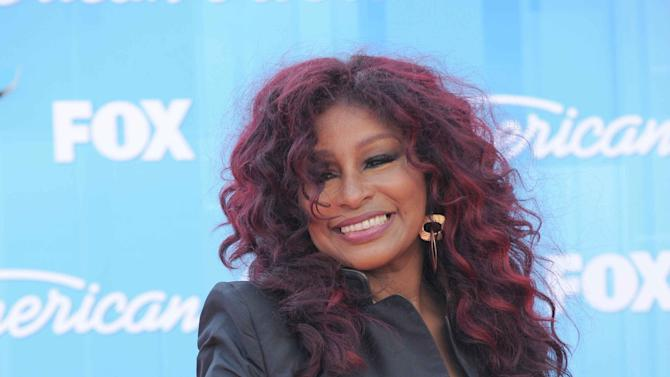 Chaka Khan arrives at the American Idol Finale on Wednesday, May 23, 2012 in Los Angeles. (Photo by Jordan Strauss/Invision/AP)