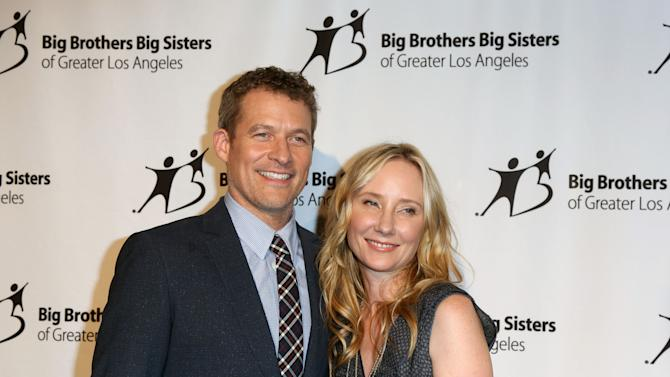 "James Tupper, Anne Heche, seen at Big Brother Big Sister 2014 ""Big Bash"" at The Beverly Hilton Hotel on Friday Oct. 24, 2014, in Beverly Hills, CA. (Photo by J. Emilio Flores/Invision/AP)"