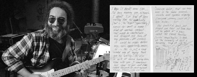 Rare Jerry Garcia letter up for auction