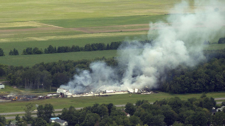 Massive explosion at Quebec fireworks factory