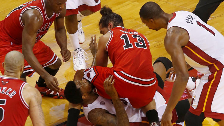NBA: Playoffs-Chicago Bulls at Miami Heat