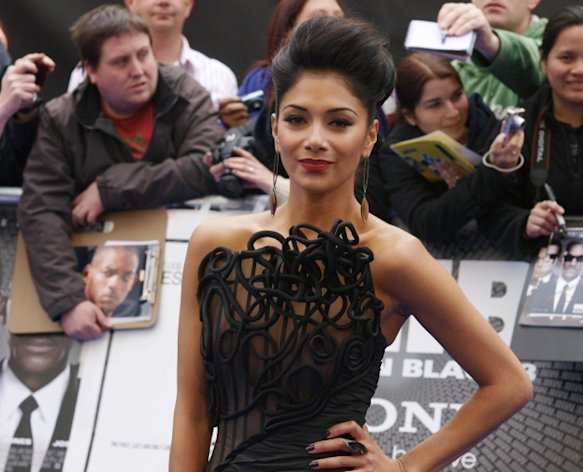 Nicole Scherzinger attends the UK premiere of &#39;Men in Black III,&#39; Leicester Square, London, May 16, 2012 -- AFP