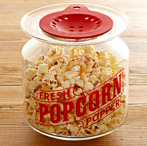 Glass Microwave Popcorn Popper