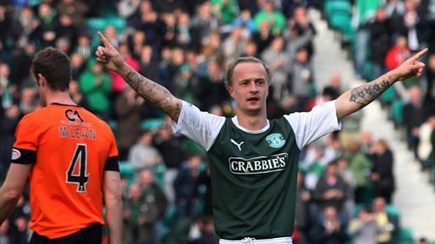 Leigh Griffiths has scored 16 Clydesdale Bank Premier League goals for Hibs this season