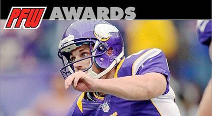 Vikings PK Walsh wins 2012 Golden Toe Award