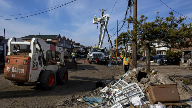 Many on NY's Long Island still dark after Sandy