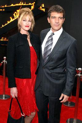 Melanie Griffith and Antonio Banderas at the LA premiere of Columbia Pictures' The Legend of Zorro