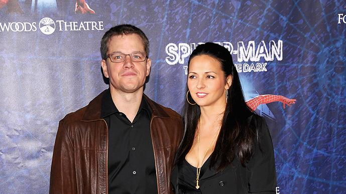 Matt Damon Lucinana Damon Spiderman Pr