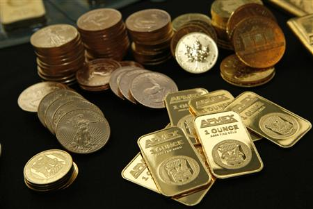 Gold Bullion and coins from the American Precious Metals Exchange (APMEX) is seen in this picture taken in New York, September 15, 2011. REUTERS/Mike Segar