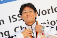 Tomoyuki Matsuda (pictured in 2010) was practicing at a firing range ahead of the national championships in the Pacific coast city of Ishinomaki when a 9.0-magnitude quake struck offshore and unleashed monster waves on March 11, 2011