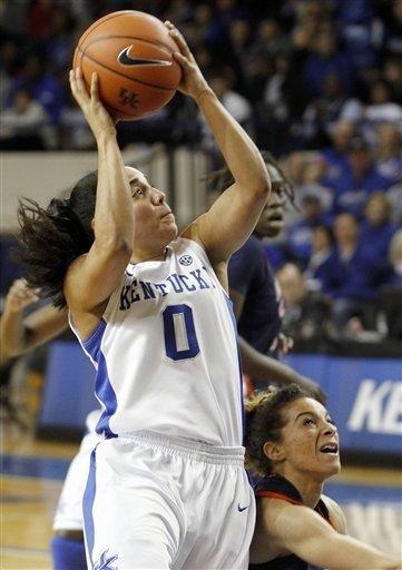 Mathies leads Kentucky women to rout of Auburn