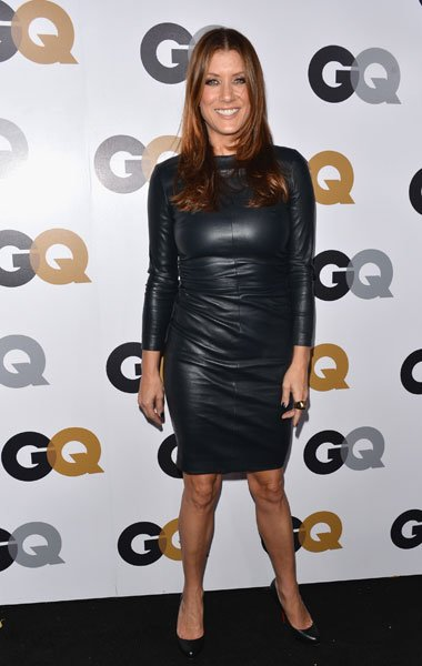 Kate Walsh: We love a sexy leather dress but Walsh's outfit looks as if its squeezing the life out of her. It's a fun look but the wrinkled leather makes it look uncomfortable on her. (Photo by Albert