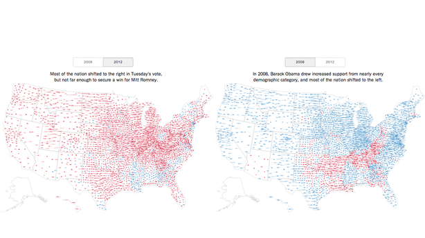 Where America Became More Red in 2012 — And More Blue