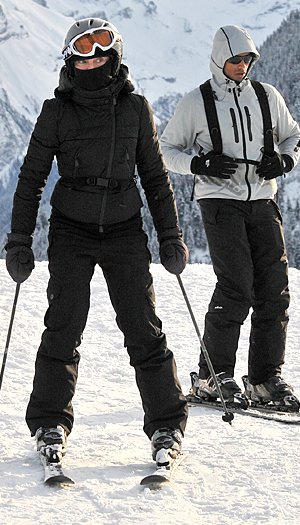 Madonna hit the slopes in Gstaad, Switzerland. INFDaily.com