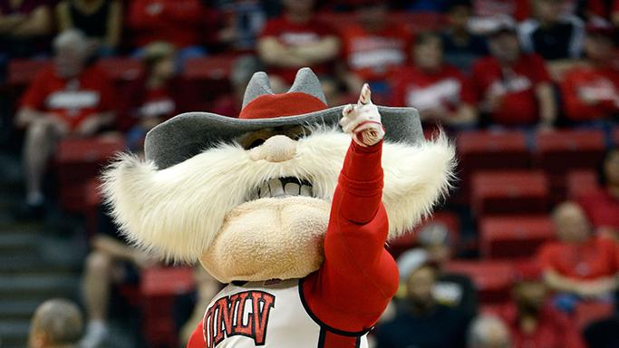 UNLV Rebels mascot Hey Reb
