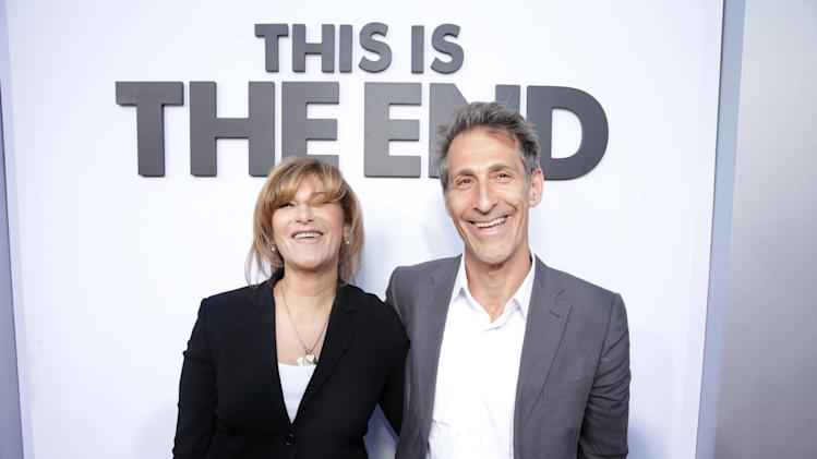 Sony's Amy Pascal and Sony's Michael Lynton at Columbia Pictures This is The End Premiere on Monday, June, 3, 2013 in Los Angeles. (Photo by Eric Charbonneau/Invision for Columbia Pictures/AP Images)