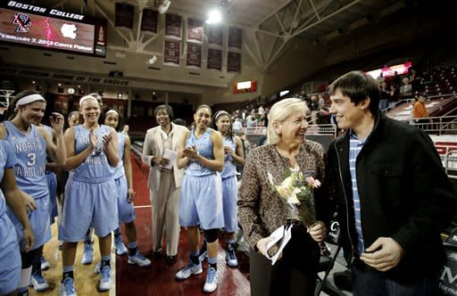 No. 16 UNC women beat BC for Hatchell's 900th win