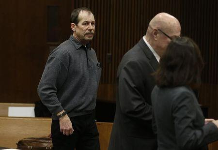 Theodore Wafer stands in the courtroom during his arraignment in Detroit