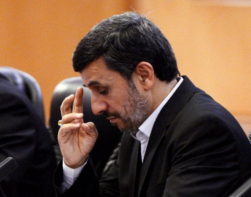 "Iran's President Mahmoud Ahmadinejad (seen in Beijing in June) said Friday that Israel is a ""cancerous tumour"" that will soon be finished off. The diatribe took place amid heightened tensions between Israel and Iran over Tehran's disputed nuclear programme"