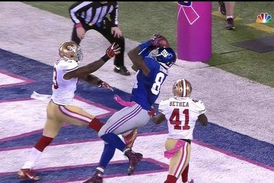 Giants' Larry Donnell reels in spectacular game-winning catch vs. 49ers and Eli Manning is SO PUMPED
