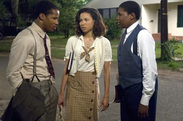 Nate Parker , Jurnee Smollett and Denzel Whitaker in The Weinstein Company's The Great Debaters
