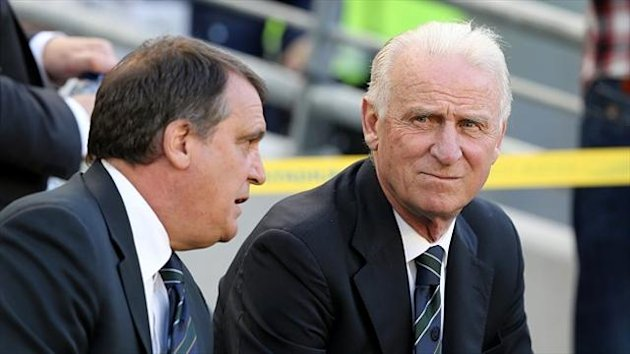 Marco Tardelli, left, believes Giovanni Trapattoni should be given more time