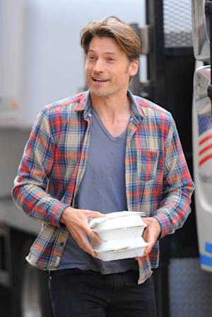 Nikolaj Coster-Waldau is spotted on the set of 'The Other Woman' in New York City, April 30, 2013 -- Getty Images