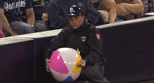Petco Park security guard annihilates defenseless beach ball (V…