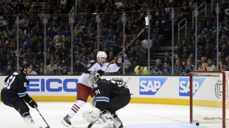 NHL: Columbus Blue Jackets at San Jose Sharks