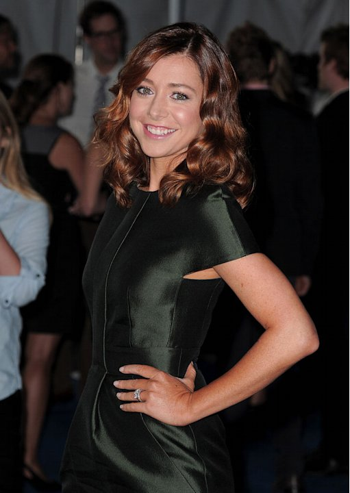 "Alyson Hannigan of ""How I Met Your Mother"" arrives at the CBS Fall Season Premiere party at The Colony on September 16, 2010, in Los Angeles."