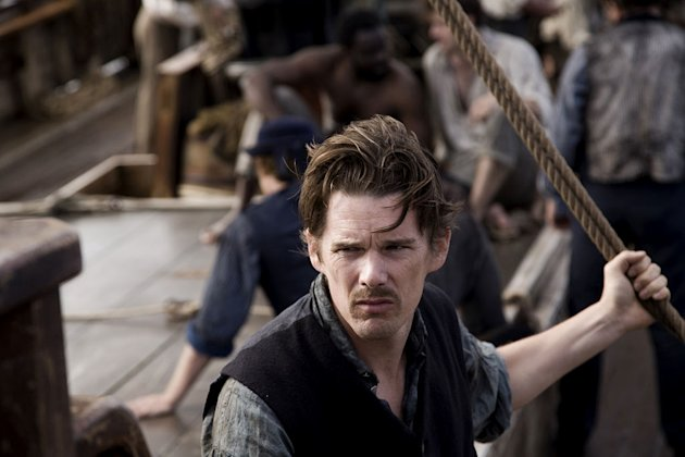 "Ethan Hawke as Starbuck in ""Moby Dick."""