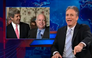 John Kerry's McCain Joke Just Got the Jon Stewart Seal of Approval