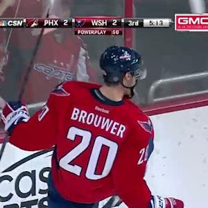 Brouwer buries the rebound past Smith on PP