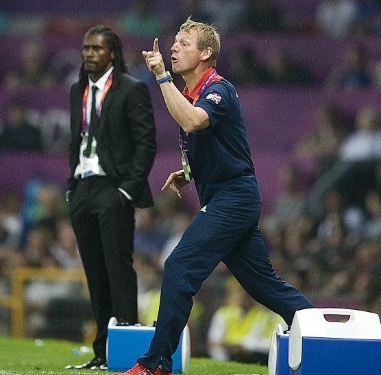 Stuart Pearce at the 2012 Olympics with Great Britain.