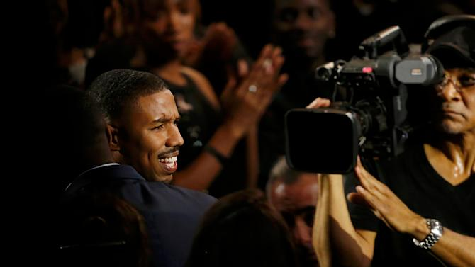 Michael B Jordan heads to the stage after being named Entertainer of the Year at the 47th NAACP Image Awards in Pasadena