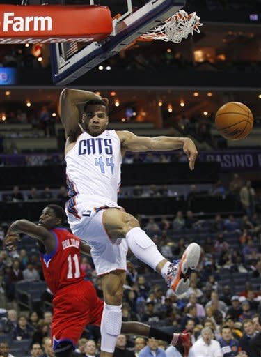 Turner scores 25 as 76ers over Bobcats 104-98