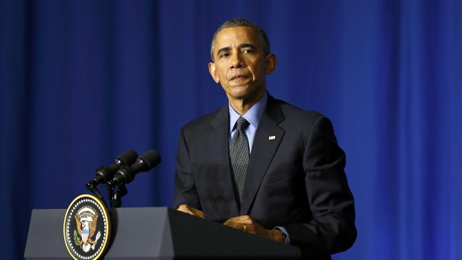 US President Barack Obama holds a news conference at the conclusion of his visit to Paris