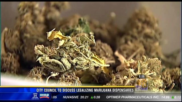 City council to discuss marijuana dispensaries