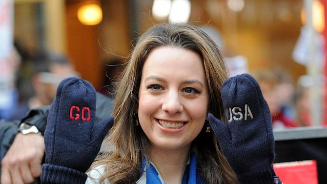 U.S. figure skater Sarah Hughes poses for a photo during a taping of the NBC Today NBC's Today Show Celebrates 100 Days To Sochi Olympics at on Tuesday, Oct. 29, 2013 in New York. (Photo by Brad Barket/Invision/AP)