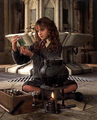Emma Watson as Hermione in Harry Potter and The Chamber of Secrets