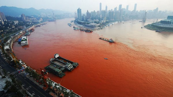 > Sep 7 - Yangtze River Turns Red and Turns Up a Mystery - Photo posted in BX Daily Bugle - news and headlines | Sign in and leave a comment below!