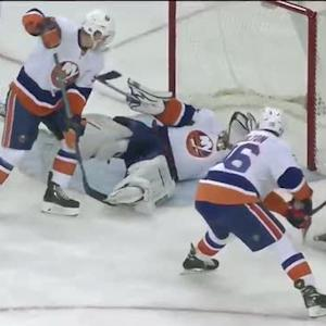 Evgeni Nabokov dives to stop Carl Hagelin