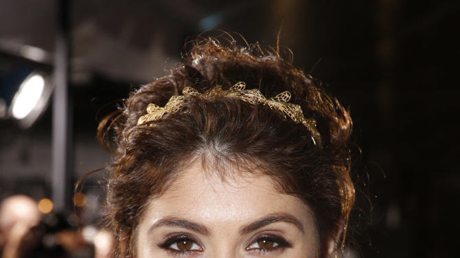 """Gemma Arterton arrives at the premiere of """"Hansel & Gretel Witch Hunters"""" on Thursday Jan. 24, 2013, in Los Angeles.  (Photo by Todd Williamson/Invision/AP)"""