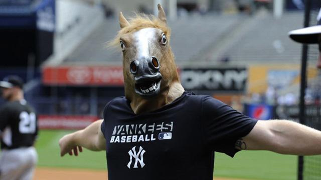 Shawn Kelley's horse head is Yanks new good luck charm