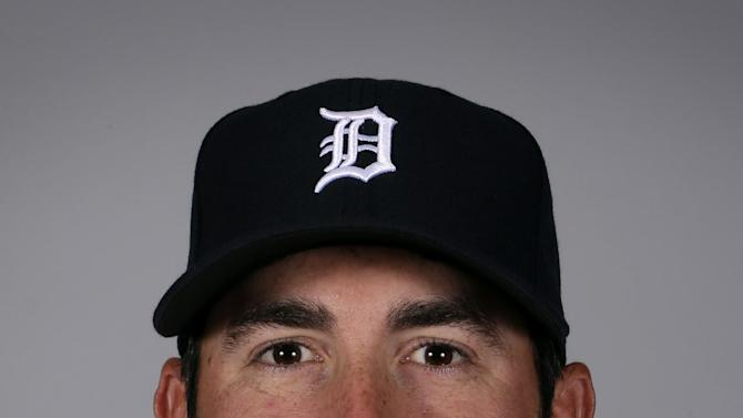 FILE - This is a 2013 file photo showing pitcher Justin Verlander of the Detroit Tigers baseball team. Verlander, the 2011 AL MVP and Cy Young Award winner, has agreed to a five-year contract covering 2015-19.  (AP Photo/Charlie Neibergall, File)