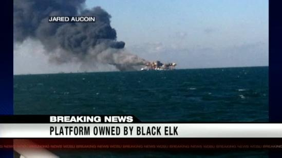 Jefferson Parish monitors Gulf platform fire