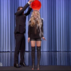 Lohan Accepts Ice Bucket Challenge on Fallon